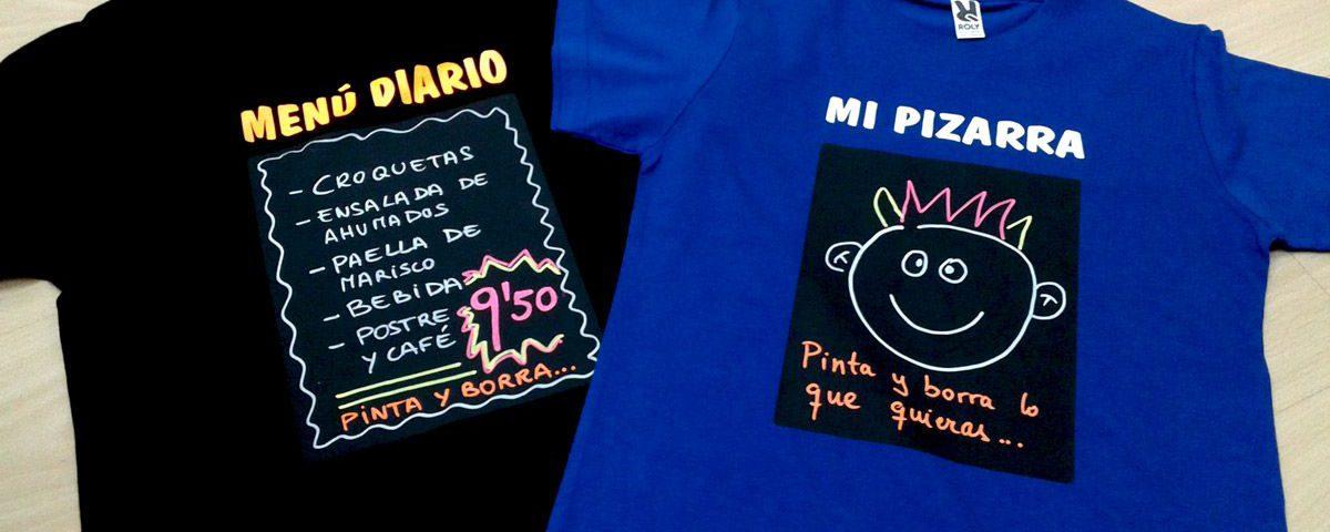 Camisetas personalizadas pizarra
