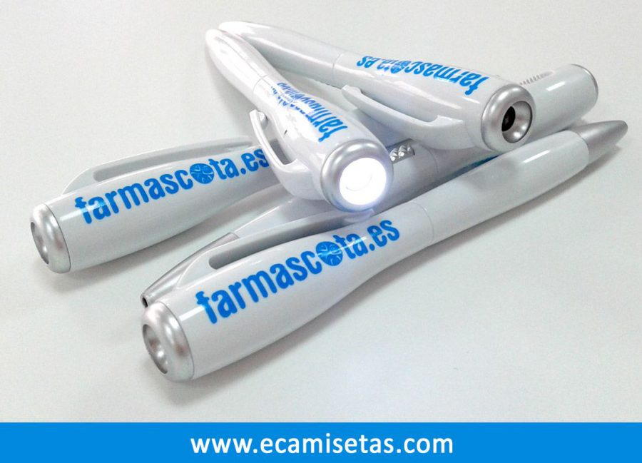 Boligrafos personalizados linterna