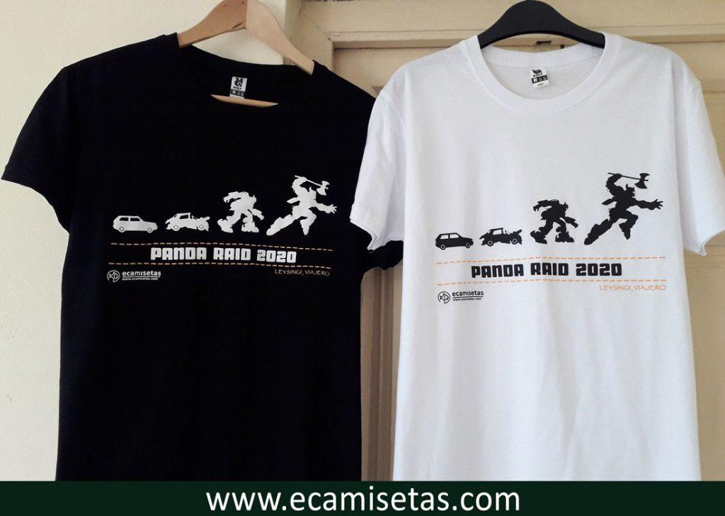 Camisetas panda raid