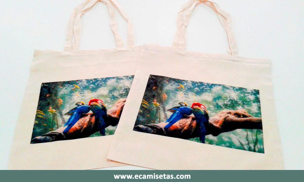 Bolsas serigrafiadas de tela