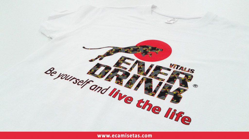 camisetas ener drink serigrafiadas