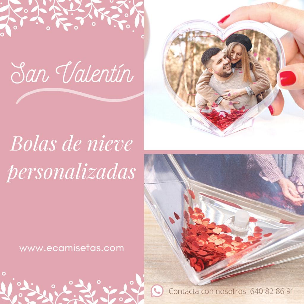 Bola de nieve corazones - San Valentín